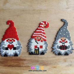 可爱圣诞小矮人拼豆