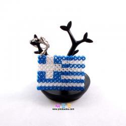 希腊国旗拼豆