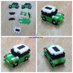 拼豆图纸3D立体汽车