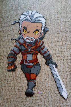 巫师3盖洛特Geralt拼豆