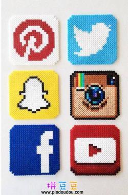 推特脸书油管标志