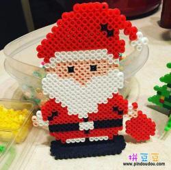 卡通圣诞老人拼豆