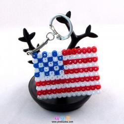 美国国旗拼豆