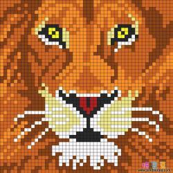狮子头拼豆狮头像