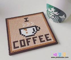 咖啡杯垫拼豆