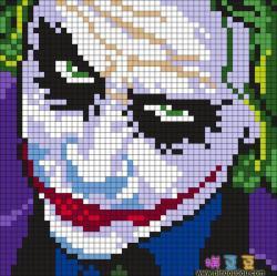 蝙蝠侠反派小丑拼豆