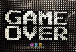 拼豆图纸GAME OVER游戏结束