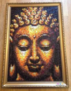 佛教佛像佛头拼豆