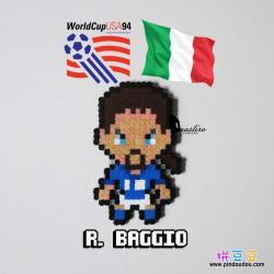 意大利足球明星罗伯特巴乔拼豆