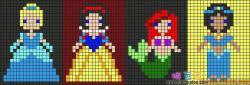 迪士尼公主拼豆豆