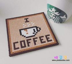 我爱咖啡杯垫
